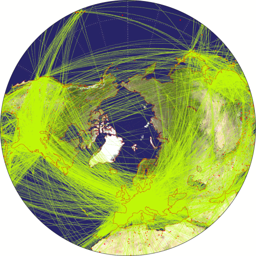 azimuthal equidistant projection