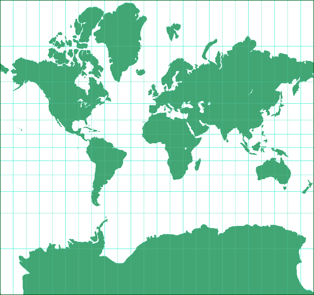 web mercator projection If you want a physical model of mercator's projection, let the globe be a spherical balloon that is blown up inside the cylinder a web-site about mercator by wilhelm krücken (in.